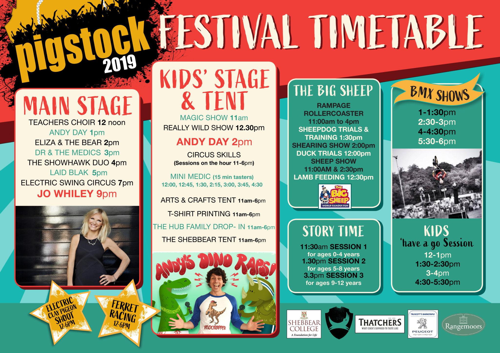 Lineup/Timetable   Pigstock Festival 2019